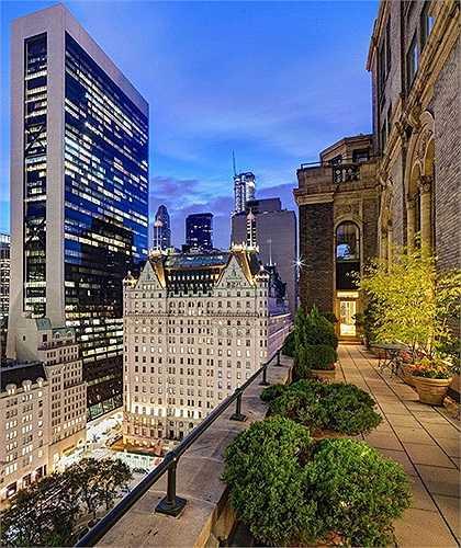 Căn hộ có hướng nhìn ra khách sạn Plaza Hotel và tòa nhà Empire State Building