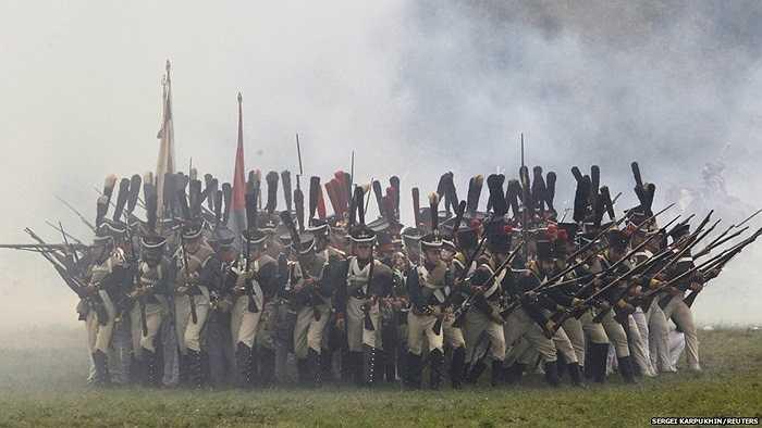 Các nghệ sĩ chuẩn bị cho lễ kỉ niệm 200 năm Trận Borodino tại thủ đô Matxcơva, Nga