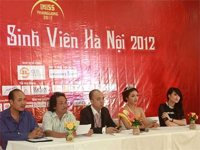 Khánh Chi- em gái Công Vinh cũng nằm trong ban tổ chức Imiss Thăng Long 2012