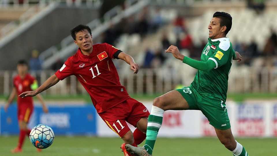 Các tuyển thủ Việt Nam kém hơn nhiều về sức vóc so với Iraq (ảnh: FIFA)
