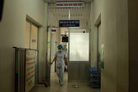 Khoa Phỏng, BV Chợ Rẫy - nơi chị Khê được điều trị tích cực nhưng không qua khỏi.