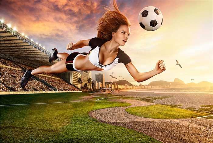 Bộ ảnh lịch World Cup 2014 được xây dựng bằng đồ họa dựa trên hình ảnh thu nhận từ những người mẫu có thật