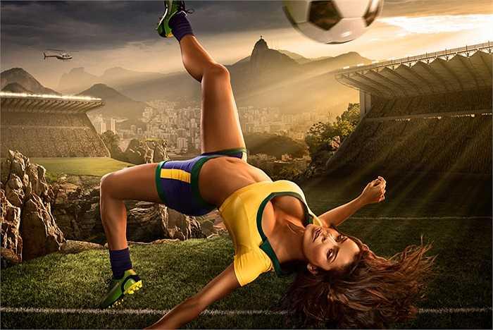 Nhiếp ảnh gia thể thao nghệ thuật Tim Tadder đã mời các người mẫu từ khắp nơi trên thế giới về thực hiện bộ ảnh này