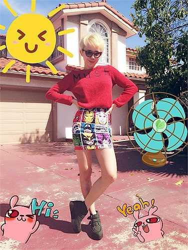 Trông cô như phiên bản Miley Cyrus của Việt Nam.
