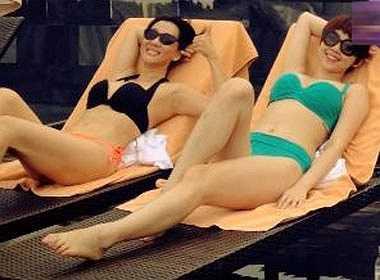 Sở hữu số đo ba vòng bốc lửa, Kỳ Duyên thường xuyên khoe dáng với nhiều kiểu bikini khác nhau.