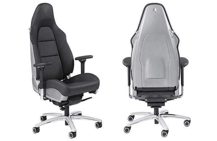Có giá 6.714 USD, ghế Porsche có lẽ là một trong những đồ dùng đắt đỏ dành cho dân văn phòng. Chiếc ghế được bọc da và có kiểu dáng giống ghế lái của xe 911.
