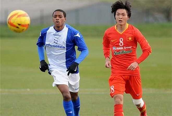 U19 Việt Nam kết thúc chuyến tập huấn ở Anh bằng thất bại 2-4 trước U19 Birmingham