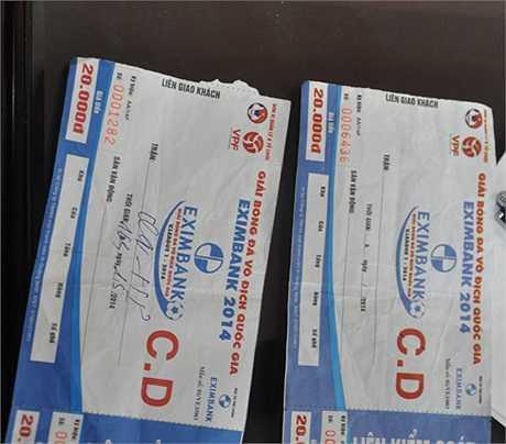Công an Quảng Ninh cũng đang điều tra vụ bán vé giả ở trận Quảng Ninh-Hải Phòng tuần trước