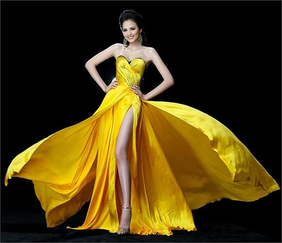 Có chồng vẫn thi Hoa hậu hoàn vũ 2012, khiến cô vừa nhận lệnh cấm diễn từ Cục Nghệ thuật biểu diễn.
