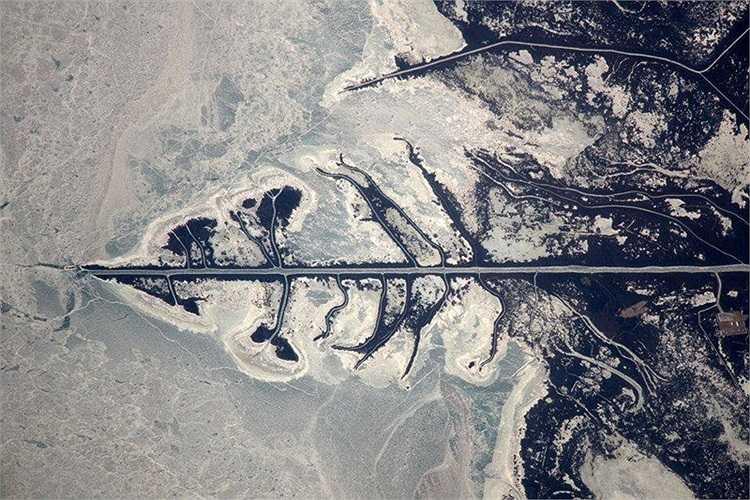 Biển Caspian nhìn từ ngoài vũ trụ