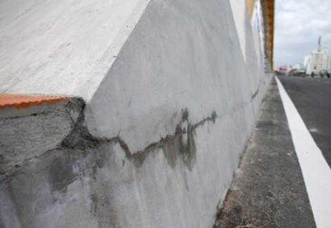 Vết nứt trên cầu Rồng - Đà Nẵng
