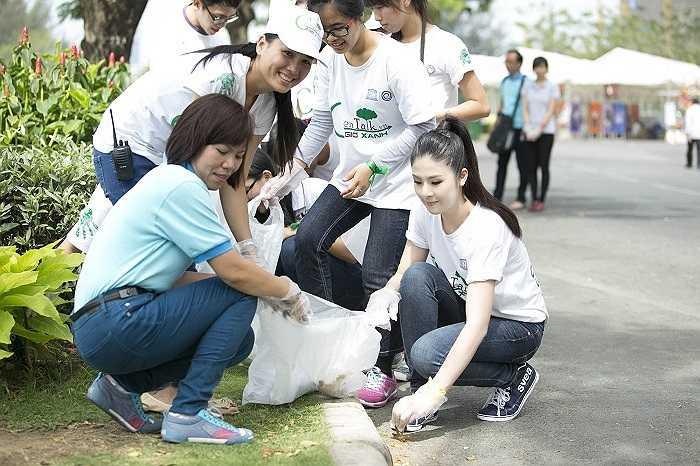Ngọc Hân đã có mặt tại thành phố Hồ Chí Minh để tham gia Chương trình Hưởng ứng Giờ trái đất 2014 với tư cách là Đại sứ của chương trình cùng hơn 1000 tình nguyện viên.