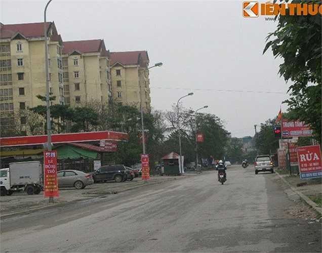Đoạn đường nằm ngay sát Khu đô thị mới Định Công.