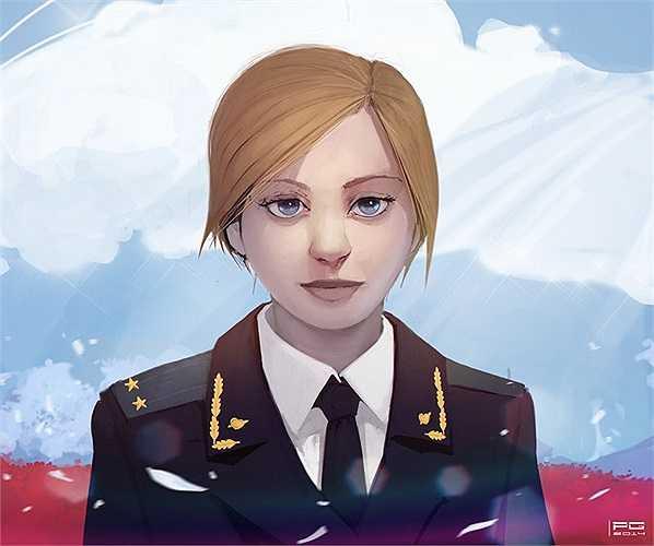 Những fan hâm mộ của Poklonskaya ở Nhật Bản thậm chí còn phóng tác hình ảnh của cô thành một nhân vật hoạt hình