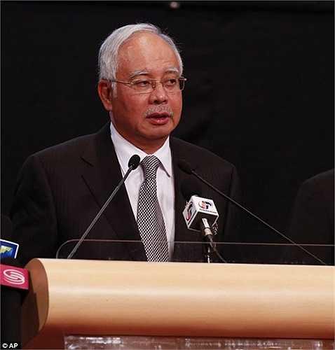 Thủ tướng Malaysia Najib Razak thông báo về tai nạn MH370