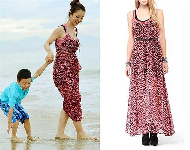 Ít ai nghĩ chiếc váy maxi xinh đẹp cô mặc chỉ có giá 19 USD.