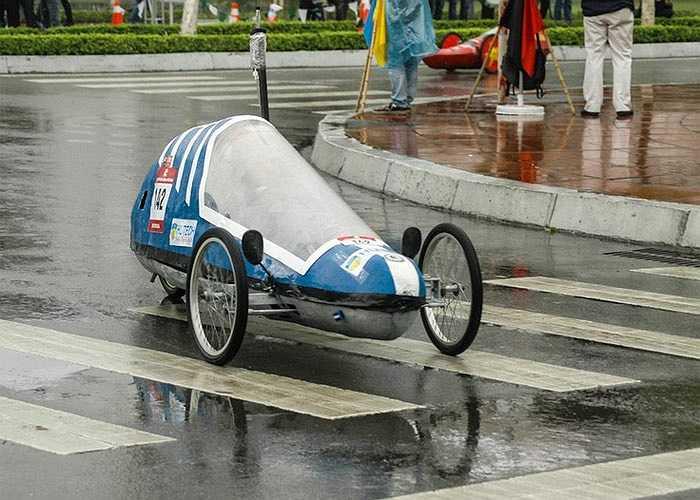 Đây là những chiếc xe tham gia Cuộc thi lái xe sinh thái và tiết kiệm nhiên liệu (EMC 2014) tại Hà Nội.