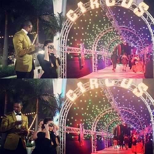 Ông bố hai con tổ chức bữa tiệc hoành tráng đón sinh nhật lần thứ 30 với chủ đề rạp xiếc tại Công viên Marlins. Siêu sao 30 tuổi mời cả gánh xiếc nổi tiếng Cirque du Noir tới biểu diễn mua vui.