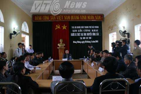 TAND TP Hải Phòng, xin lỗi, án oan, Tiên Lãng, Đông Hưng, Nguyễn Hồng Cầu