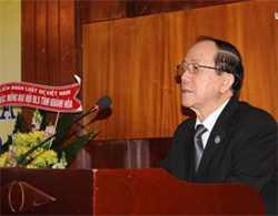 Chủ tịch Liên đoàn Luật sư Việt Nam Lê Thúc Anh.