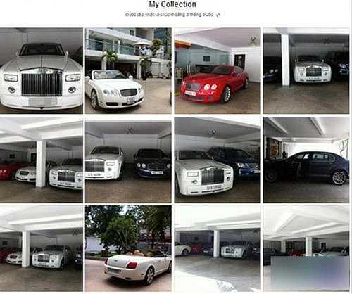 Theo một số nguồn tin, Phan Thành cũng sở hữu bộ sưu tập xe hơi khá hoành tráng. Anh từng chia sẻ trên trang cá nhân một album ảnh mang tên 'My Collection' gồm nhiều chiếc xe thuộc các thương hiệu nổi tiếng, từ Bentley, Lexus GX570, Ferrari 458 cho đến Roll Royce Phantom…