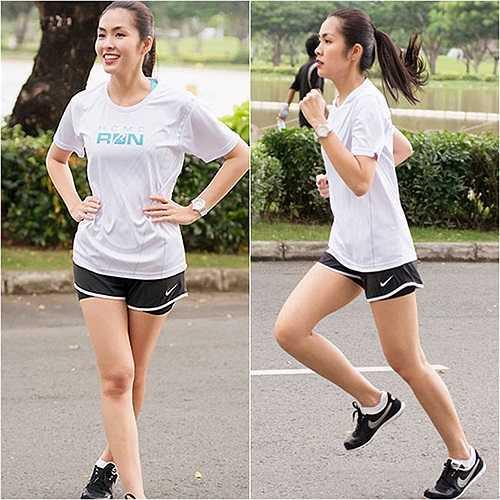 Chạy bộ là một trong những cách giúp nàng ngọc nữ có được đôi chân nuột nà.