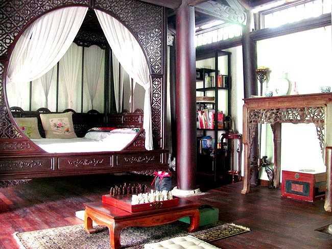 Không gian riêng tư như phòng ngủ cũng được thiết kế tối giản để tận hưởng được những hương vị của thiên nhiên.