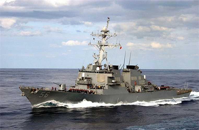 """USS John S.McCain (DDG – 56) là tàu khu trục hạm hạng nặng lớp Arleigh Burke. DDG – 56 hạ thủy tháng 9/1992, có """"mẹ đỡ đầu"""" là Cindy McCain (phu nhân thượng nghị sỹ John McCain)."""