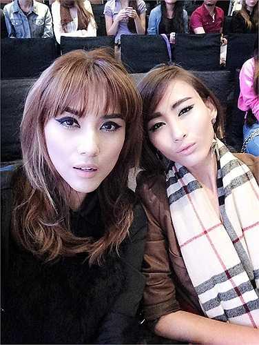 Võ Hoàng Yến và Nguyễn Hằng Next Top Model.