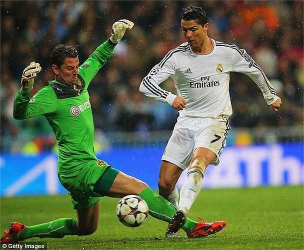 Điểm nhấn đáng chú ý nhất trận là bàn thắng vào phút thứ 57 của Ronaldo. Pha lập công đã chính thức giúp CR7 cân bằng thành tích ghi bàn trong một mùa Champions League với Messi lập nên với Barca ở mùa giải 2011/12 sau 11 trận đấu.