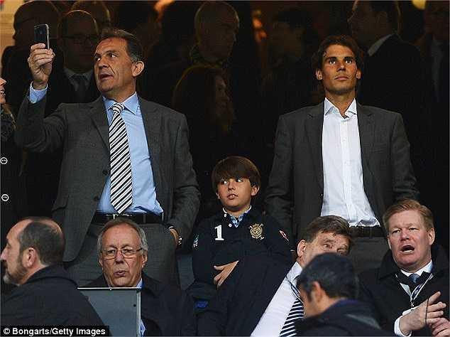 Rafael Nadal cũng đã dự khán trận đấu này để cổ vũ cho đội bóng mình yêu thích