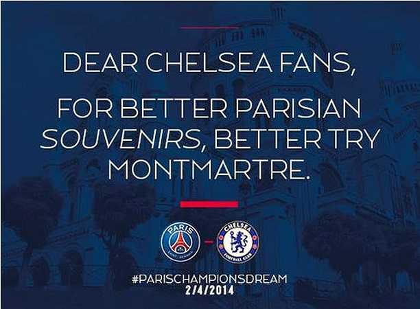PSG trêu tức fan Chelsea sau trận thắng 3-1 trên sân nhà