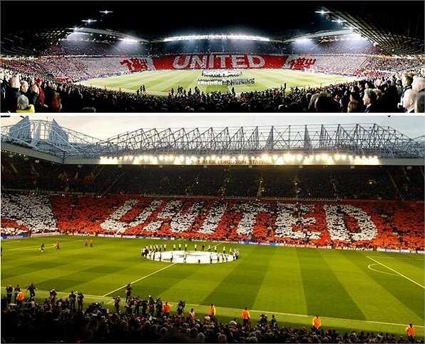 Cũng xung quanh trận đấu giữa Man Utd và Bayern, trang chủ trên Facebook của Quỷ đỏ liên tục cho đăng những tấm hình đẹp lung linh về không khí cuống nhiệt tại sân Old Trafford