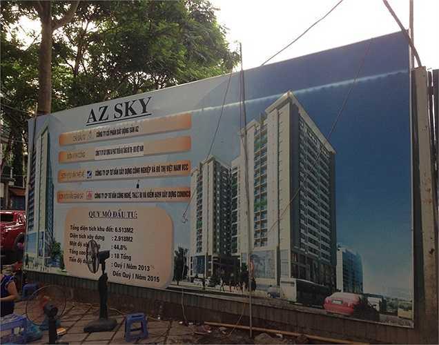 Một dự án khác của AZ Land cũng đã được tái khởi động lại trong thời gian qua là AZ Sky Định Công. Đây là dự án có vị trí đất vàng tại Hà Nội.