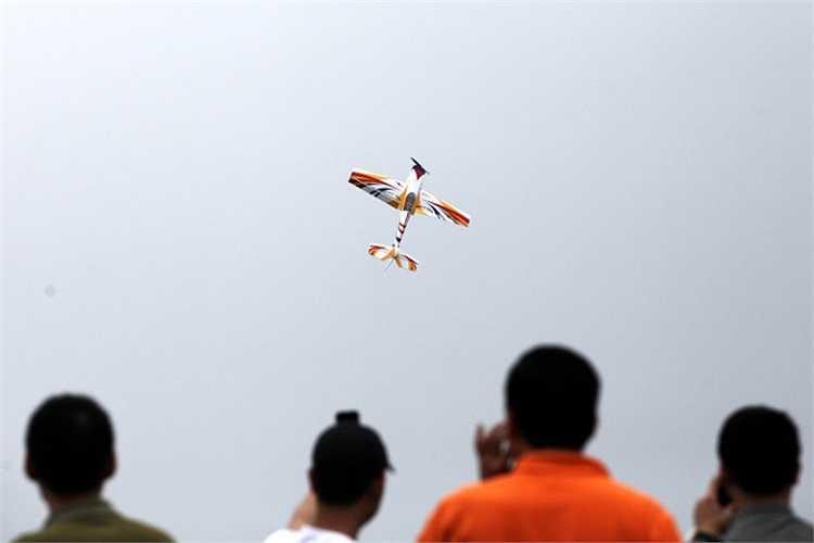 Biểu diễn bay 3D của mô hình máy bay cánh bằng. Đây là màn diễn đòi hỏi kỹ thuật rất cao để mô hình bay theo nhiều hướng, nhiều chiều trong không gian.