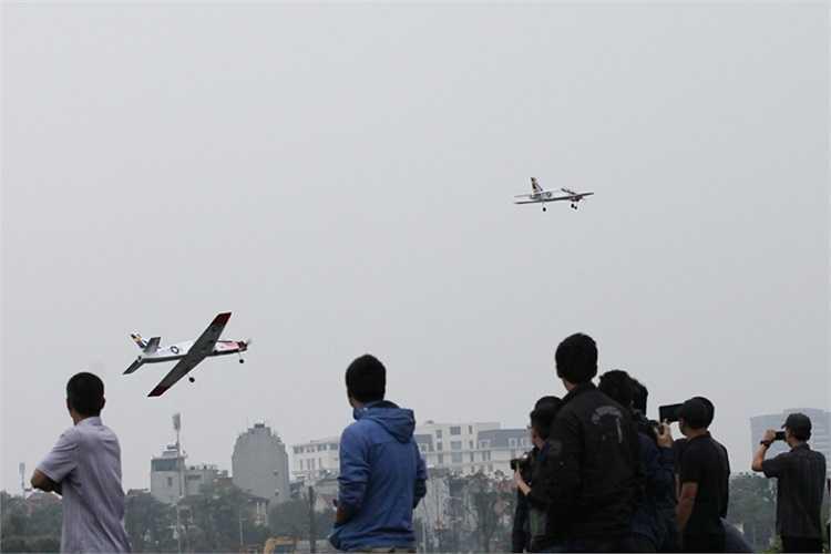 Màn biểu diễn của những mô hình máy bay cánh bằng.