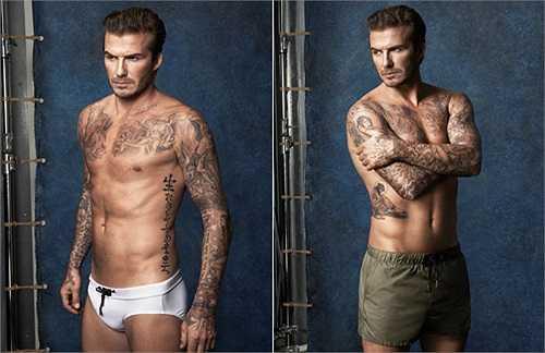 Beckham xuất hiện trong hình ảnh quảng cáo đồ lót mới của nhãn hiệu H&M