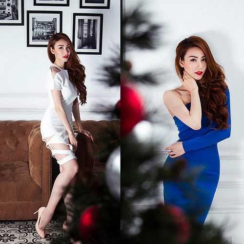 Lúc hiện đại trong bộ váy xanh cobalt hay trắng với những đường cut out đầy gợi cảm.