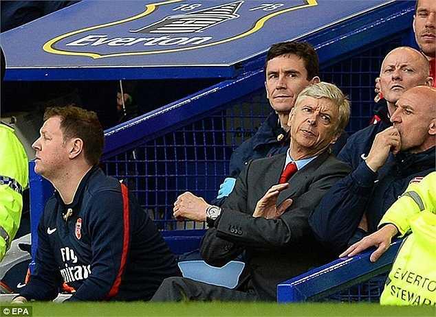Arsene Wenger ngán ngẩm với kết quả thua chung cuộc 0-3 trên sân khách