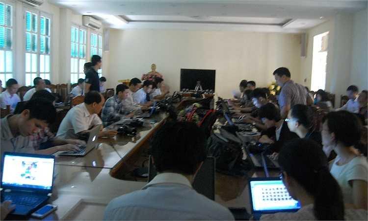 Phiên tòa xét xử Nguyễn Đức Kiên và đồng phạm thu hút sự quan tâm của báo chí và dư luận.