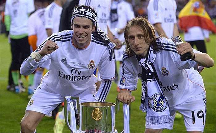 Bale cùng Modric, người đồng đội cũ ở Tottenham