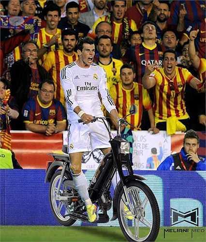 Bale đã gian lận, mang xe máy vào sân để hạ gục Barca