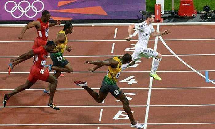Tốc độ của Gareth Bale khiến 'tia chớp' Usain Bolt phải kinh ngạc