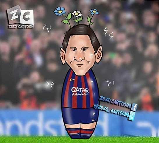 Trong khi đó, Messi lại như một bình hoa di động, mất tích suốt 90 phút thi đấu