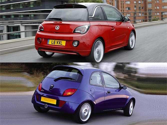 Vauxhall Adam và Ford Ka có kiểu dáng gần tương tự nhau.