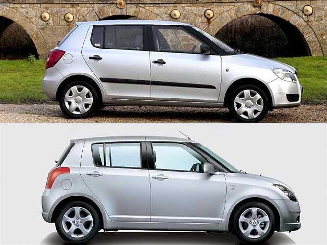 Cùng trong phân khúc xe nhỏ, Skoda Fabia và Suzuki Swift có thể coi là một cặp anh em dù thuộc hai thương hiệu khác biệt