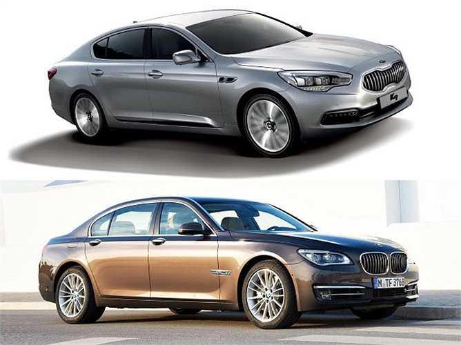 Kia K9, dòng xe hướng tới phân khúc siêu sang của Kia được cho là có nhiều điểm giống với dòng xe sang của Đức, BMW 7 Series