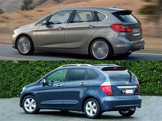 BMW 2 Series Active Tourer và Honda FR-V thuộc hai sân chơi khác nhau nhưng việc có chung kiểu dáng MPV khiến cặp đôi này dễ bị nhầm lẫn với nhau.