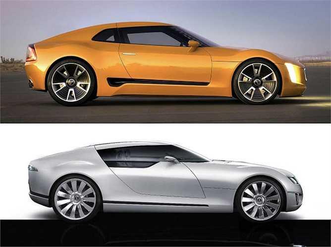 Kia GT4 Stinger, mẫu concep của hãng xe Hàn mới ra mắt nhưng lại có nhiều nét tương tự với mẫu concept của Saab, Aero-X ra mắt năm 2006