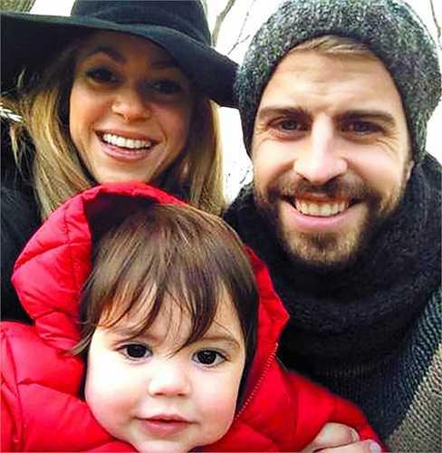 Gia đình hạnh phúc của Pique-Shakira